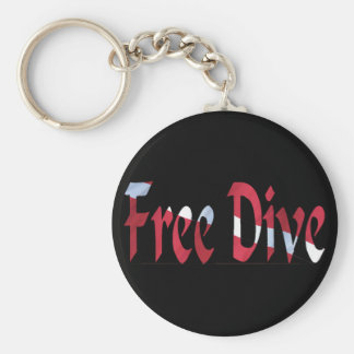 FREE DIVE-Dive for Divers Diving Basic Round Button Key Ring