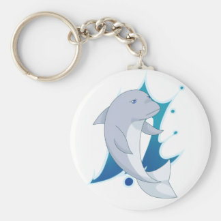Free! Dolphin Basic Round Button Key Ring