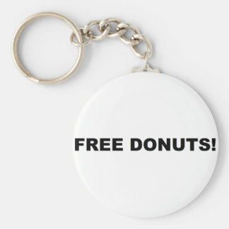 Free Donuts Key Chains