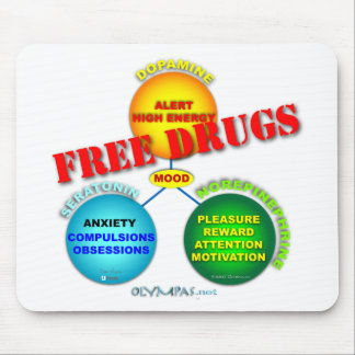 Free Drugs in the Brain Mousepad