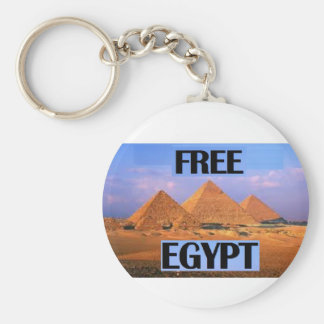 Free Egypt - Featuring the Pyramids Basic Round Button Key Ring
