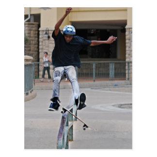 Free Falling Skateboarding Postcard