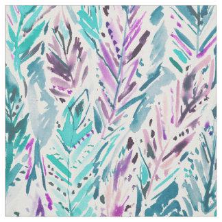 FREE FEELINGS Boho Feather Print Fabric