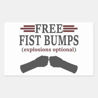 Free Fist Bumps Rectangular Sticker