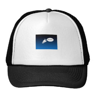 Free Floating Astronaut in Space Mesh Hat