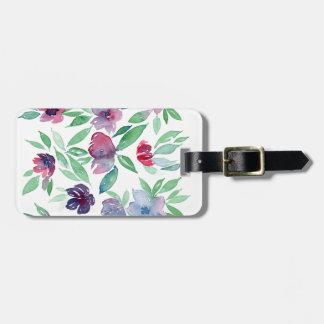 Free Floral - Blue, Purple, Green Vines Greenery Bag Tag