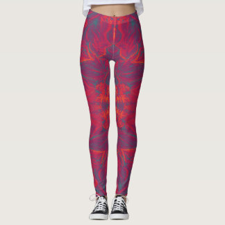 Free flowing abstract painting leggings