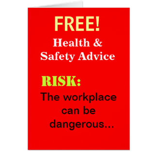 Free Funny Health and Safety Advice Add A Caption Card