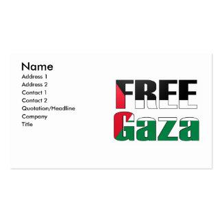 Free Gaza Business Card