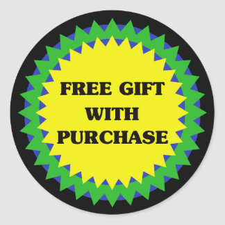 FREE GIFT WITH PURCHASE Retail Sale Sticker