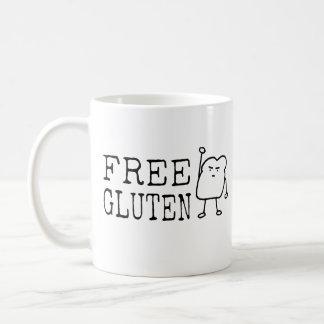 Free Gluten - Cute Funny Bread Activist Satire Coffee Mug