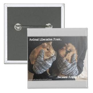 Free Guinea Pigs 15 Cm Square Badge