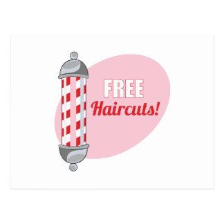 Free Haircuts Postcard