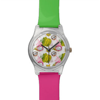 Free Hand Textured Fruit Pattern Watch