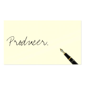 Free Handwriting Script Producer Business Card