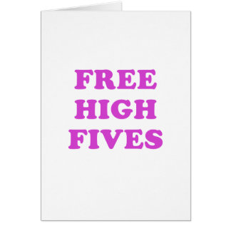 Free High Fives Card