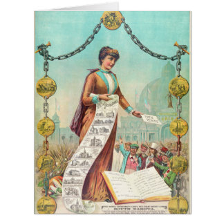Free Homes 1890 Big Greeting Card