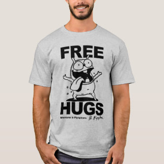 """Free Hugs"" Bill Plympton Dog shirt"