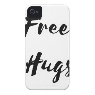 Free Hugs Black Text iPhone 4 Covers