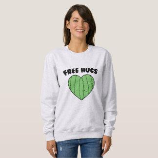 Free Hugs   Cactus Heart Sweatshirt