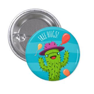 Free Hugs Cactus Illustration - Funny Badge