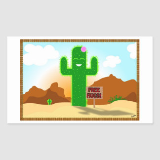Free Hugs Cactus Stickers