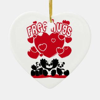 Free_Hugs Ceramic Ornament