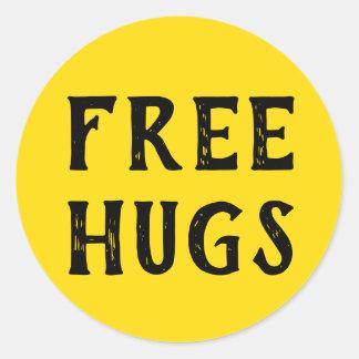 Free Hugs. Classic Round Sticker