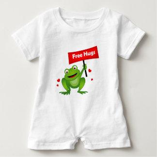 free hugs cute frog baby bodysuit