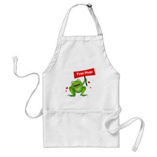 free hugs cute frog standard apron