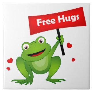 free hugs cute frog tile