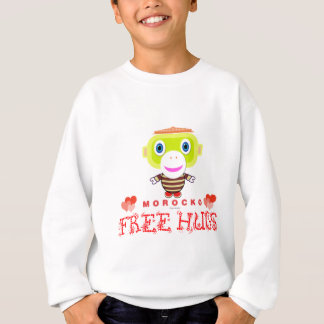 Free Hugs-Cute Monkey-Morocko Sweatshirt