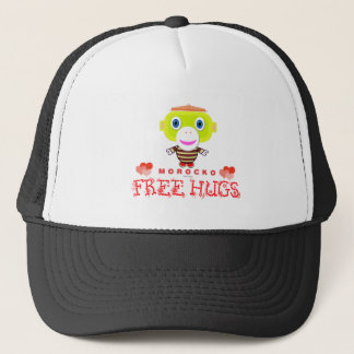 Free Hugs-Cute Monkey-Morocko Trucker Hat