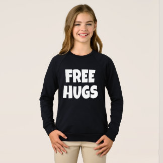 Free Hugs Girls American Apparel Raglan Sweatshirt