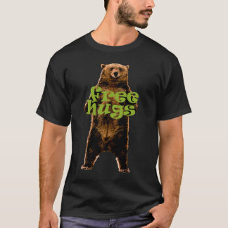 free hugs grizzly bear fun design T-Shirt