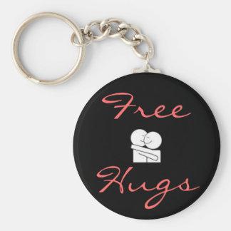 Free Hugs Basic Round Button Key Ring