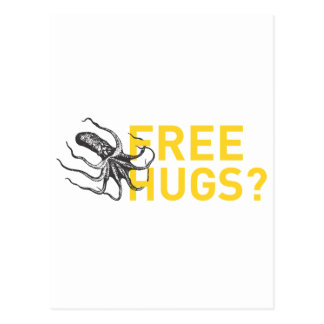 Free hugs octopus postcard