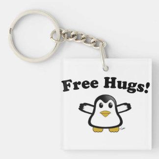 Free Hugs Penguin Key Chain