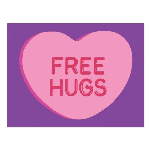 Free Hugs Post Card