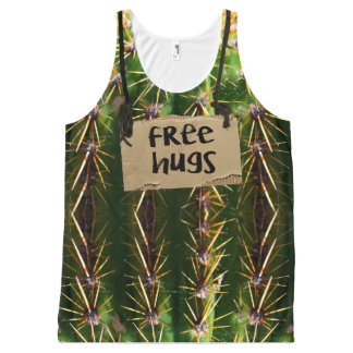 Free Hugs Prickly Cactus All-Over Print Tank Top
