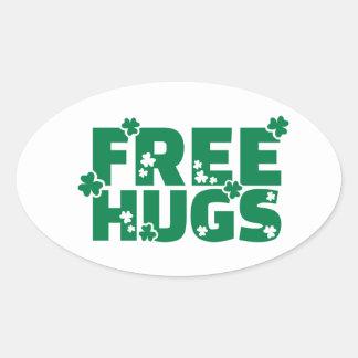 Free hugs shamrocks stickers