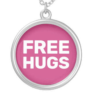 Free Hugs Silver Plated Necklace