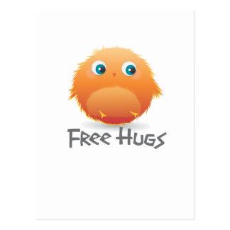 Free hugs small furry creature postcard
