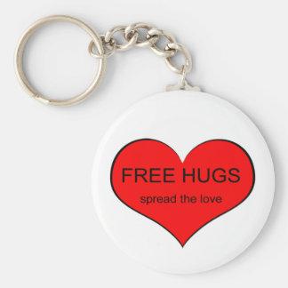 Free Hugs Spread Love Basic Round Button Key Ring