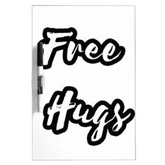 Free Hugs White Text Dry-Erase Whiteboards
