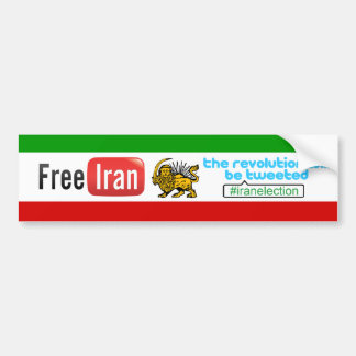 Free Iran: #iranelection Revolution Bumper Sticker