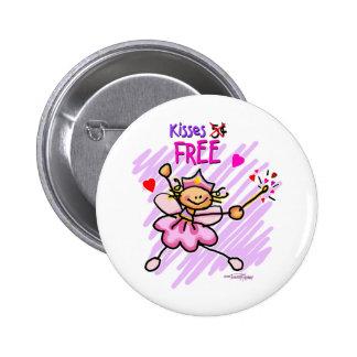 FREE kisses Valentine Button
