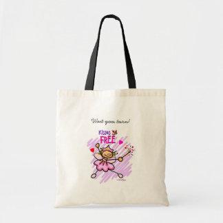 FREE kisses Valentine Canvas Bags