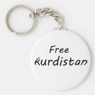 Free Kurdistan Basic Round Button Key Ring