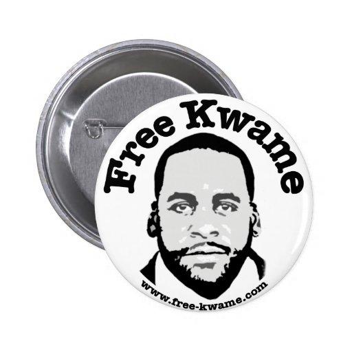 """""""Free Kwame"""" Bumper Button"""